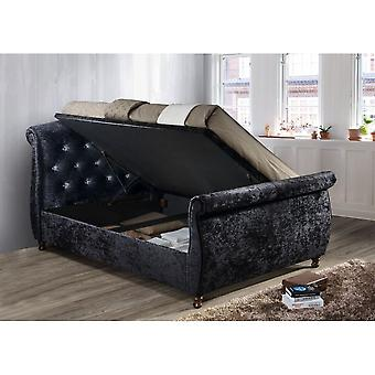 Birlea Toulouse Double Ottoman Bed In Black