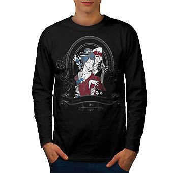 Girl Japan Woman Men BlackLong Sleeve T-shirt | Wellcoda