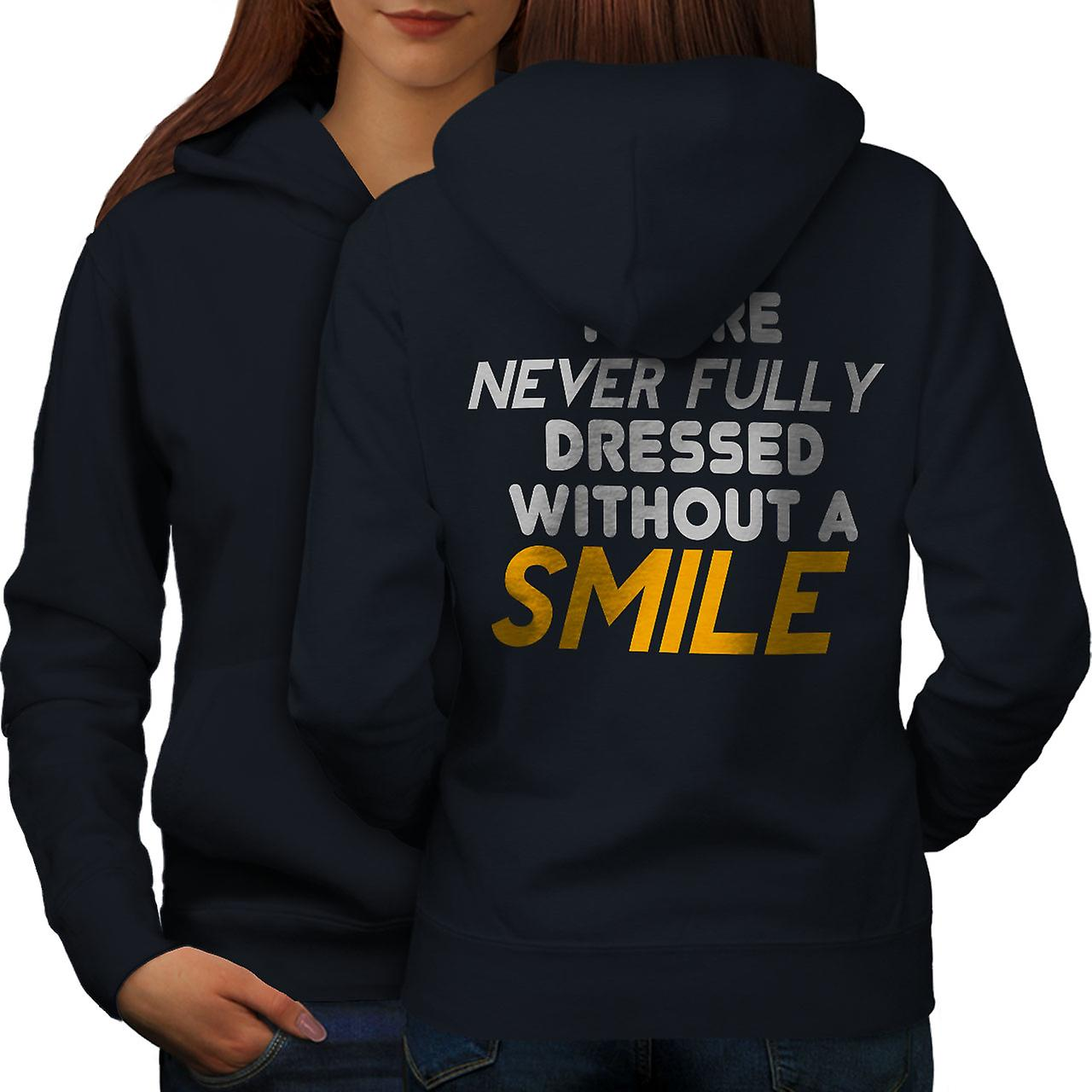 Sourire craquant Slogan femmes NavyHoodie dos