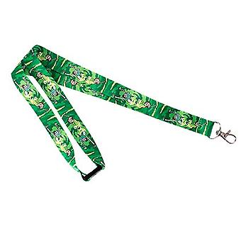 Rick And Morty Green Lanyard