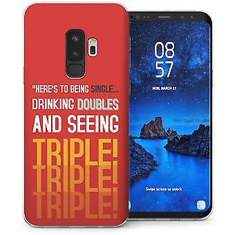 Samsung Galaxy S9 Plus at se tredobbelt citat TPU Gel sag-rød
