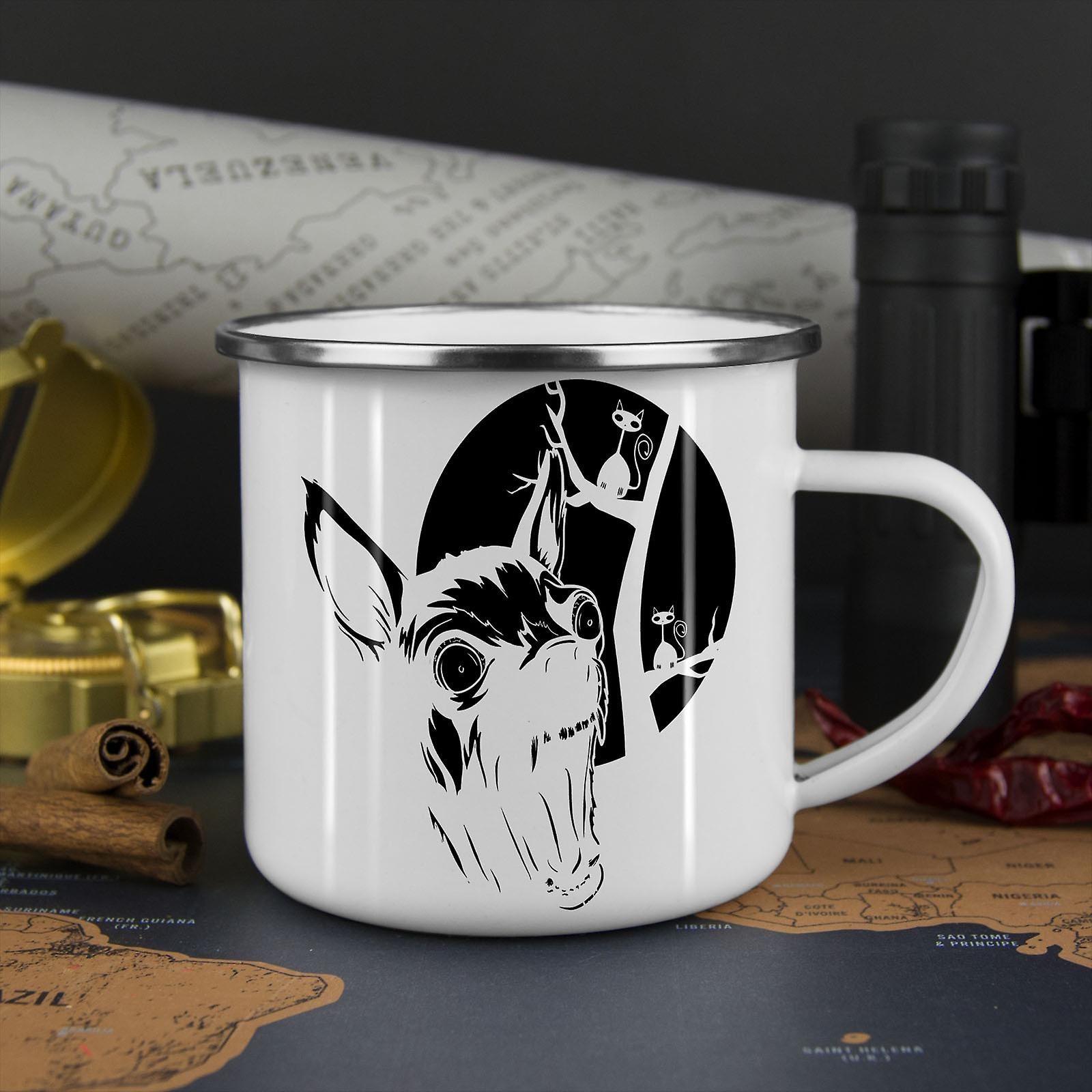 Evil Dog Puppy Horror NEW WhiteTea Coffee Enamel Mug10 oz | Wellcoda