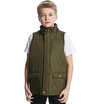 New Regatta Boy's Full Zip Sleeveless Bradley 2 Gilet Khaki