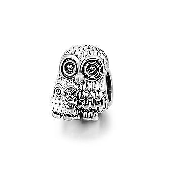 Charms Bead for woman OWL stainless steel bracelet