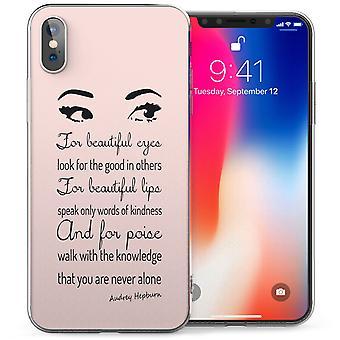 iPhonegeval X Audrey Hepburn mooie ogen citeer TPU Gel