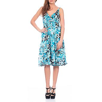 Pistachio, Ladies Cross Front Floral Summer Holiday Dress, Multiple Colours, Green, Small (UK 8-10)