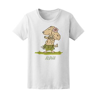 Dachshund In Hawaiian Costume Tee Women's -Image by Shutterstock