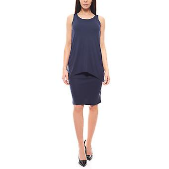 Marc O ´ Polo knee-length Jersey dress layer-look ladies blue