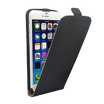 Deluxe Flip tilfellet svart for Eple iPhone 6 pluss 5.5