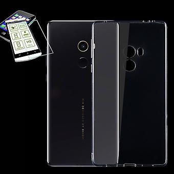 Silikoncase Transparent + 0,3 H9 Hartglas für Xiaomi Mi MIX Tasche Hülle Cover