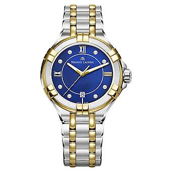 Maurice Lacroix Womens Aikon 35mm Two Tone Stainless Steel Electric BlueDial AI1006-PVY13-470-1 Watch