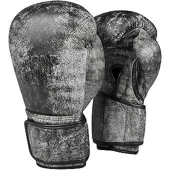 Titel boxning nödställda härlighet läder krok och ögla utbildning handskar - svart