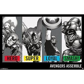 Avengers - Traits Poster Print