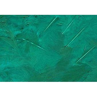 5g Green Fluffy Craft Feathers | Scrapbooking Card Making Embellishments
