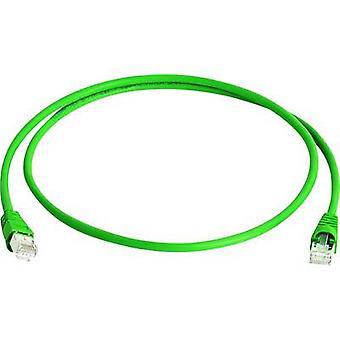 Telegärtner RJ45 Networks Cable CAT 6A S/FTP 20 m Green Flame-retardant, Halogen-free