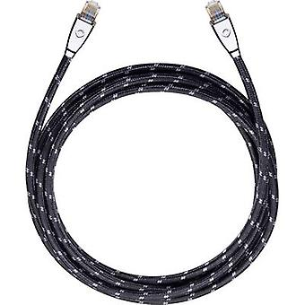 RJ45 Netwerken kabel CAT 6 S/FTP 5.1 m zwart Oehlbach XXL® HYPER STREAM
