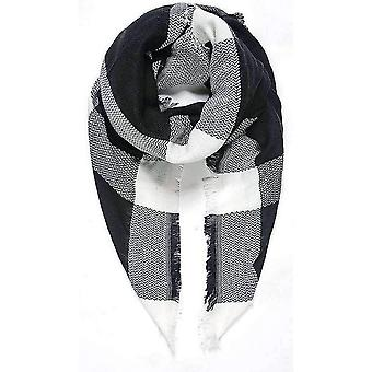 Intrigue Blanket Square Scarf - Black/White/Grey