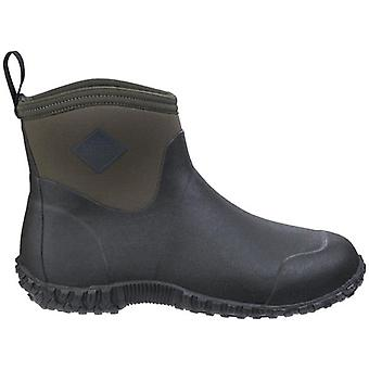 Muck Boots Muckster II Black and Green Ankle High Wellington Boots