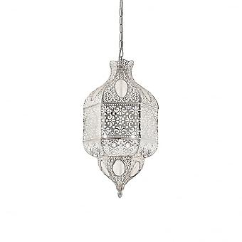 Ideal Lux Nawa-1 3 Bulb Pendant Light  Argento