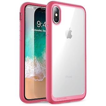 iPhone Xs Max case, [Unicorn Beetle Style] Premium Hybrid Protective Clear Case 2018 Release (Pink)