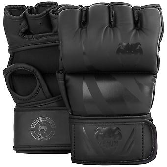 Venum Challenger 4 oz. MMA Gloves without Thumb - Black/Black