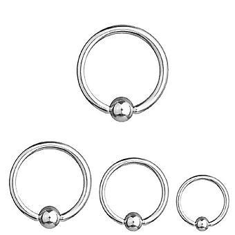 BCR Piercing, anneau de fermeture de boule, épaisseur 2,0 mm | Diamètre 8-24 mm