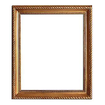 25 x 33 سم أو 10 × 13 بوصة، وإطارات الصور في الذهب