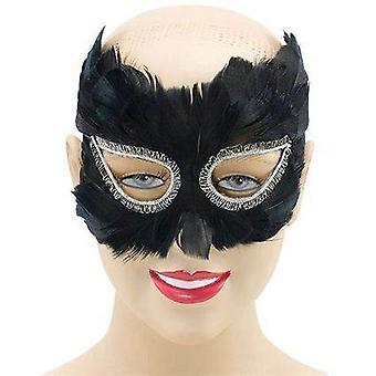 Black Feather Eye Mask.