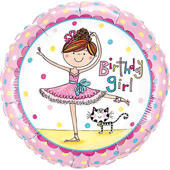 Folie ballong bursdag jente ballerina bursdag jente ca 45 cm