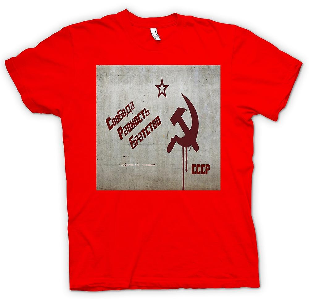 Heren T-shirt-Sovjet-Unie - Rusland - Cool Design
