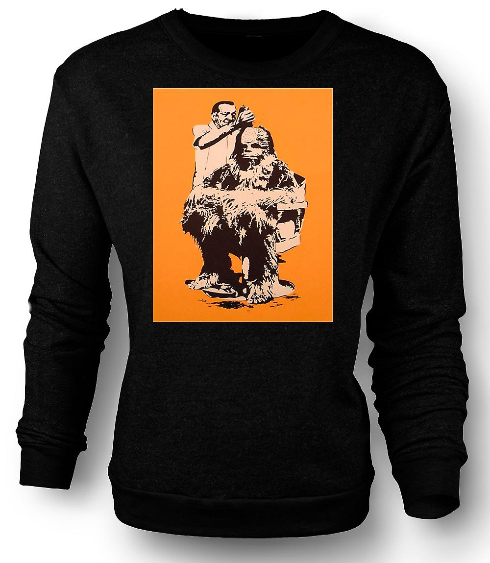Mens Sweatshirt Chewbacca cheveux coupés - Star Wars