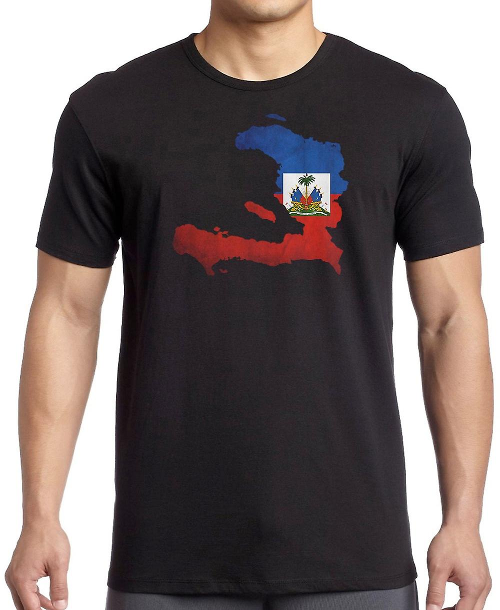 Haiti Haitian Flag Map Kids T Shirt