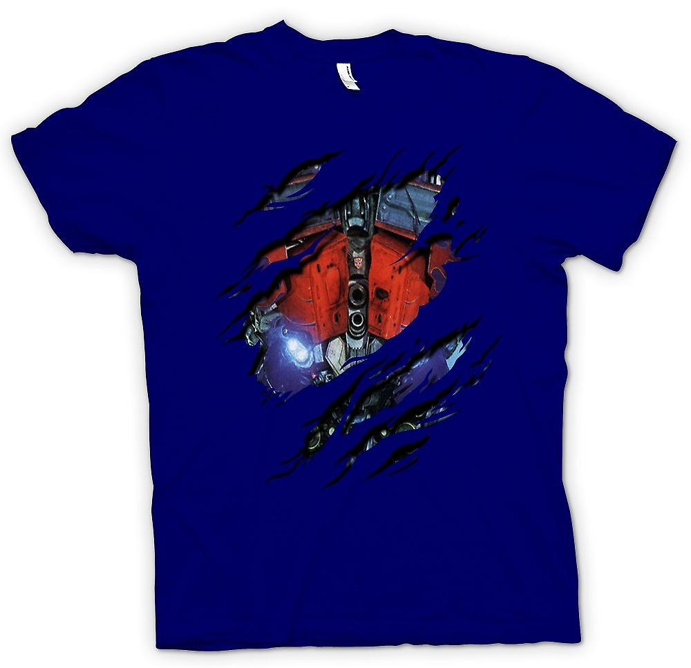 Mens T-shirt - Optimus Prime Ripped Design - Transformers Inspired