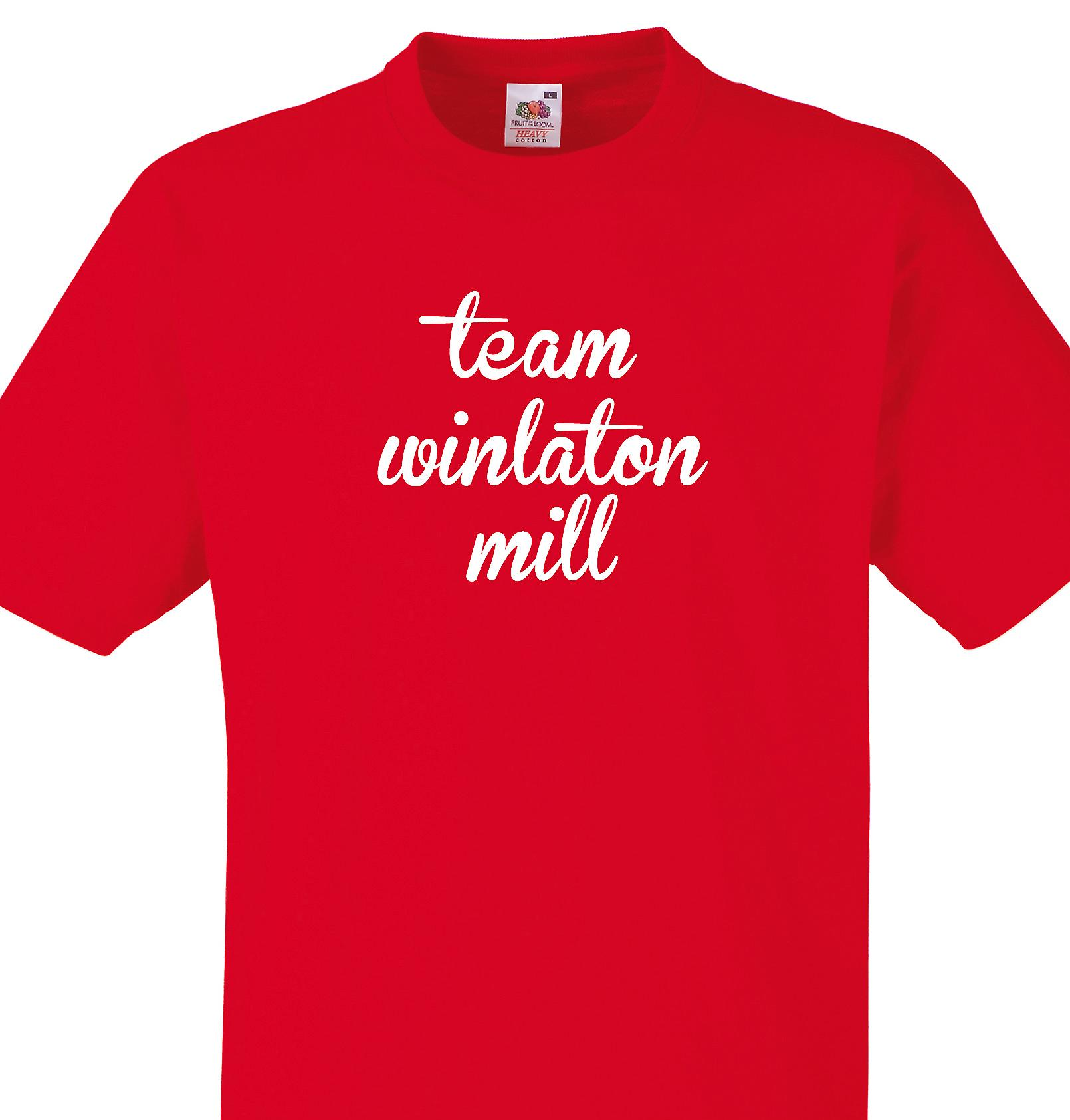 Team Winlaton mill Red T shirt