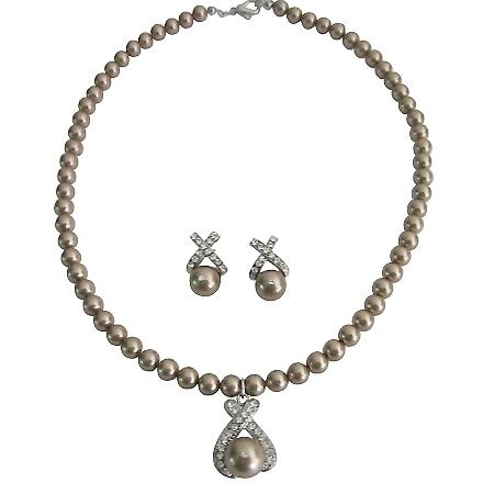 Wedding Favors Personalized Bridesmaid Gifts Bronze Pearls Jewelry