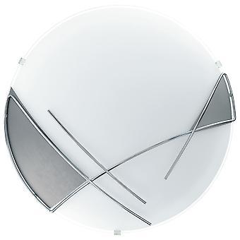 Eglo - Raya 1 kevyt moderni väri seinään/kattoon kevyt hopea/kromi lopettaa lasi varjossa EG89758