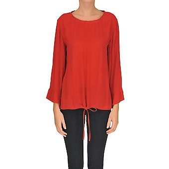 Seventy Red Viscose Blouse