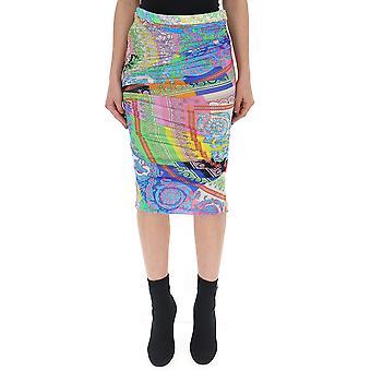 Versace Multicolor Acetate Skirt
