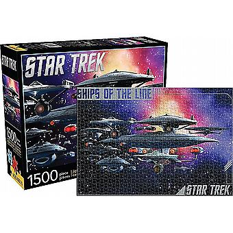 Star Trek Ships Of The Line 1500 piece jigsaw puzzle  830mm x 570mm (nm 68006)