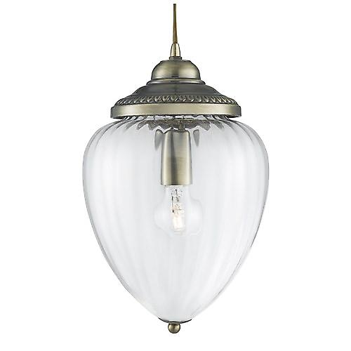 Searchlight 1091AB Optic Traditional Chrome Cable Pendant With Optic Glass