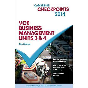 Cambridge Checkpoints VCE Business Management Units 3&4 2014 and Quiz