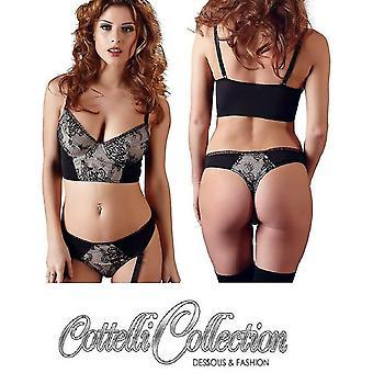 Cottelli Collection' Bra & Thong Set Detachable Suspenders (2212110)