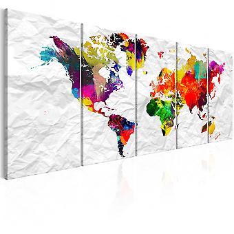 Canvas Print - World on Paper