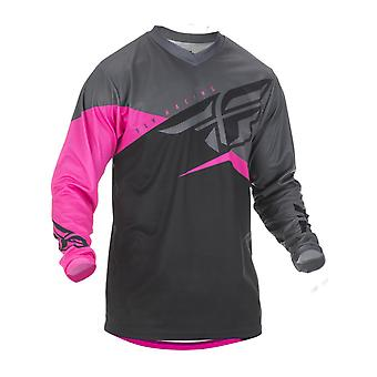 Fly Racing Neon Pink-Black-Grey 2019 F-16 Kinder MX Jersey