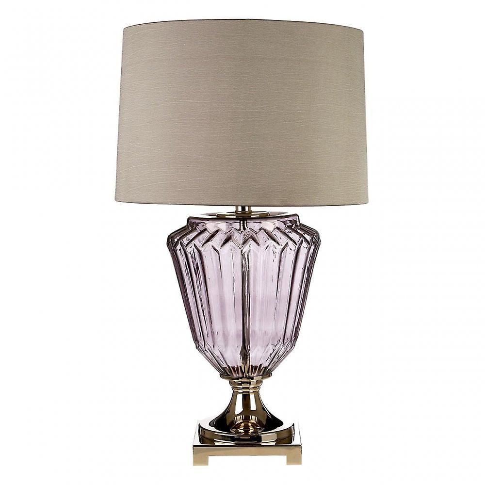 Premier Home Annot Table Lamp   Eu Plug, Glass, Silk, Clear