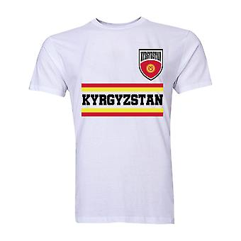 Kyrgyzstan Core Football Country T-Shirt (White)