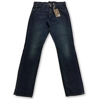 Agave Silver Modernist Tressels Jeans in Blue