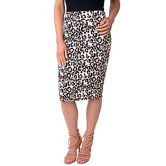 KRISP Printed Knee Length Pencil Skirt