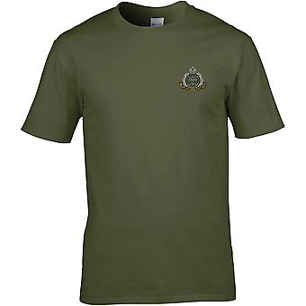 Suffolk Regiment-licensierad brittisk armé broderad Premium T-shirt