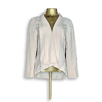 H by Halston Women's Jacket Long Sleeve Open Front Pink A303200